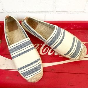 Tory Burch Striped Espadrilles Elastic Awning Shoe